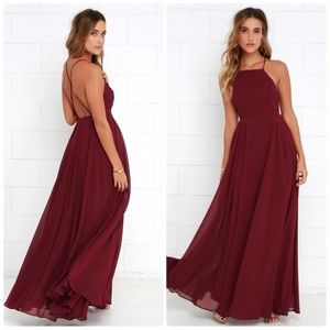 Lulu's Dresses - Lulus Mythical Kind of Love Red Wine Maxi Dress, S